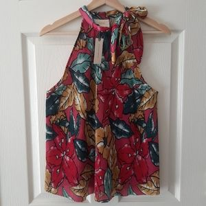 NWT Maeve Glocester Floral Halter Top Size Medium